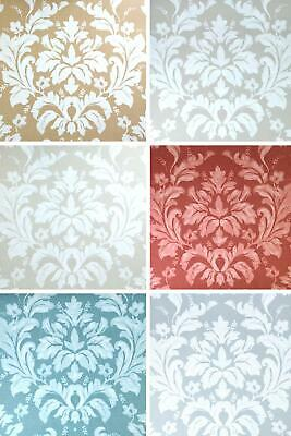 Noblesse Floral Wallpaper Damask Textured Embossed Natural Grey Beige Non-Woven • 9.95£