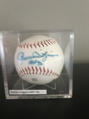$ CDN19.80 • Buy ROLLIE FINGERS Signed Official League Baseball *See Details HOF '92 Autographed