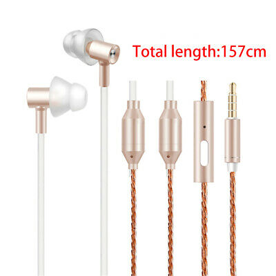 Air Tube Headsets Radiation Free In-ear Headphone Anti-Drop For PC Phones 3.5mm • 16.01£