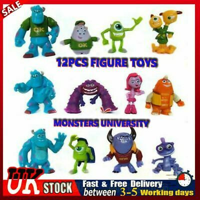 12X Monsters Inc University Sully Mike Animal Action Figure Gift Toy Cake Topper • 9.98£