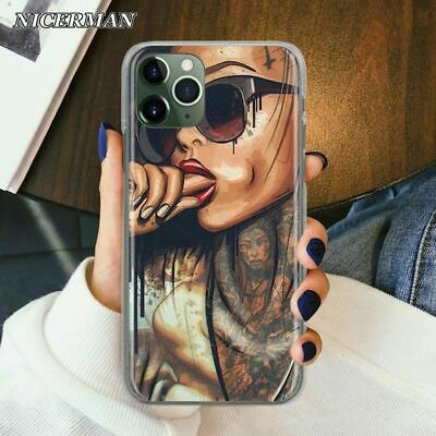 AU12.91 • Buy Sexy Tattoo Girl Phone Case Bad Girls Protect Cover For Apple IPhone 11 Pro XR 6