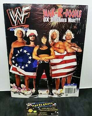 $ CDN9.49 • Buy 1990s - WWF Wrestling Magazine WWE Chyna HHH Road Dogg DX July 1998 WWE