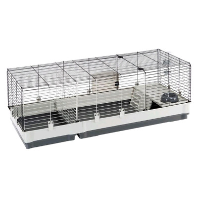 Small Pet Cage Plaza Guinea Pig Rabbit Indoor Animal House Nesting Spacious Grey • 80.89£