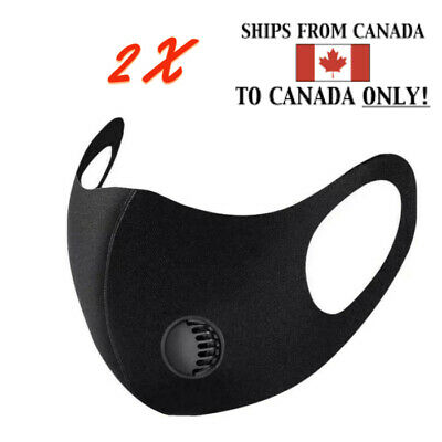 $ CDN4.87 • Buy [2-Pack] - Reusable Washable Face Mask With Breathing Valve