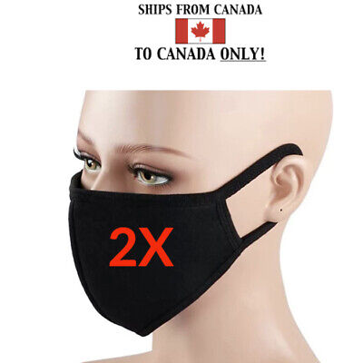 $ CDN7.99 • Buy [2-Pack] Cloth Washable Reusable Face Mask PM 2.5 - Carbon Filter Mouth Mask