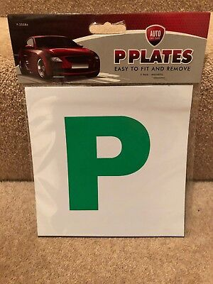 2x New Driver P Plate Stickers Safety Car Learner Just Passed Vinyl Legal Signs • 2£