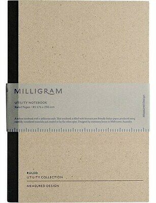 AU14.95 • Buy New Milligram Utility Notebook - Ruled - B5 - Black