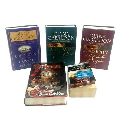 AU205.52 • Buy Lot Of 5 Books By Diana Gabaldon Lord John Series Outlander & Dragonfly In Amber
