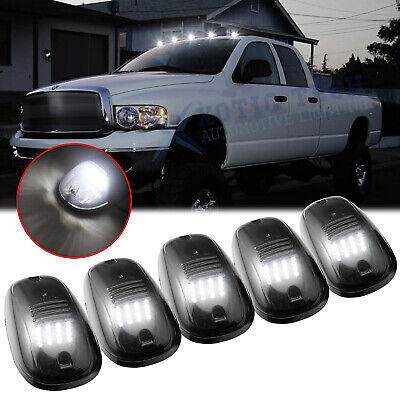 $57.99 • Buy 5x Smoked Lens Rooftop Cab Running Light LED 6000K For Dodge RAM 1500 2500 3500