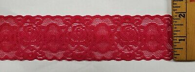 $ CDN5.26 • Buy Hot Pink 2  Wide Elastic Lace For Lingerie Or Crafts 20 Yards = $12.99