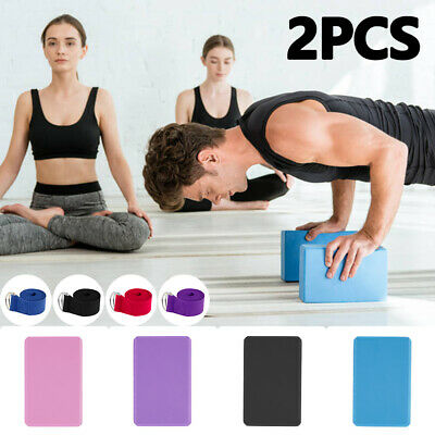 AU17.99 • Buy 2 X Yoga Block Brick Foaming Home Exercise Practice Fitness Gym Sport Tool AU