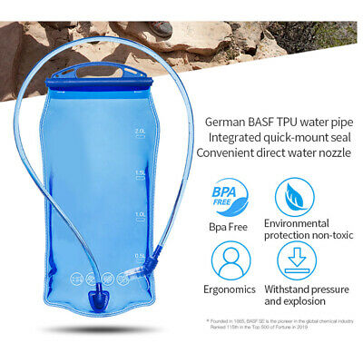 AU18.59 • Buy TPU Water Bag Foldable Drinking Bladder With Detachable Straw For Outdoor Sport