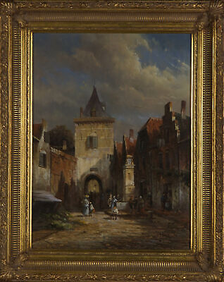 Hunt - Signed & Framed Early 20th Century Oil, Continental Courtyard • 351.35£