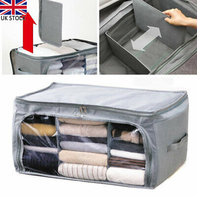 Practical Clothes Bedding Storage Box Ziped Organizer Cube Bag Multi-compartment • 10.05£