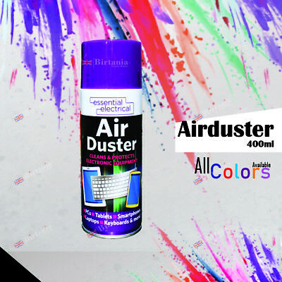 Compressed Air Can Duster Spray Protects Cleaner For Laptops Keyboards 400ml • 5.98£