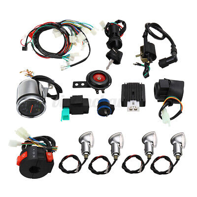 $34.56 • Buy 50 110 125cc ATV Full Electric Start Engine CDI Wiring Harness Loom Kit Quad Pit