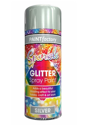 Glitter Gold Black Silver Spray Paint Sparkling Finish Creative Craft Art 200ml • 4.95£