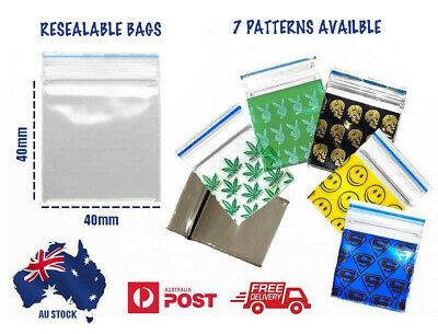 AU5.50 • Buy 100/1000pc Apple Resealable Bags Clip Zip Lock Seal Clear Plastic Small Bag 40mm