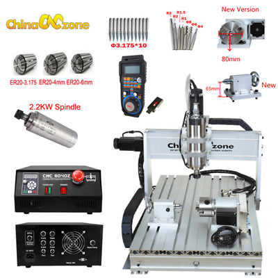 $2199 • Buy 2.2KW CNC Router 6040 4Axis Mach3 USB Engraving CNC Cutting Milling Machine US