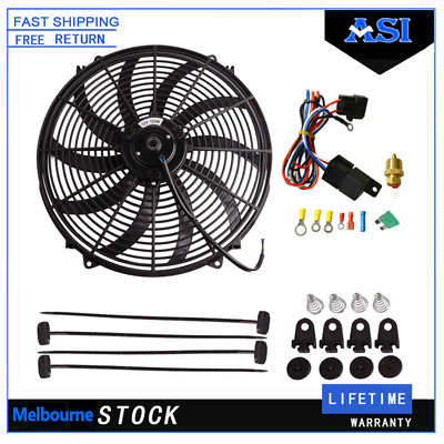 AU69 • Buy 16''Inch Thermo Fan Mounting Kit+Relay Electric Intercooler Radiator Cooling 12V