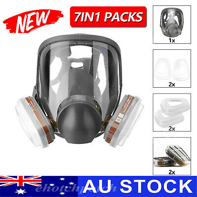 AU25.68 • Buy Gas Mask 7 In 1 Full Face Chemical Spray Painting Respirator Vapour 6800 AU POST