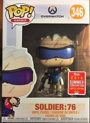AU17.90 • Buy Funko Pop Vinyl - Overwatch Soldier 76 SDCC 2018 #346