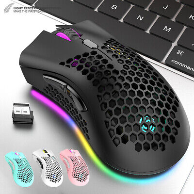 AU29.82 • Buy Wireless Lightweight Gaming Mouse Rechargeable 12000DPI RGB Backlit 7 Button NEW