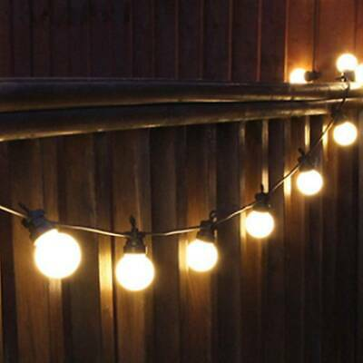 42.9FT LED G50 10/20 Blub Outdoor Globe String Festoon Light Garden Christmas • 15.59£