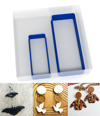 SMALL 3/5CM Long Rectangle Polymer Clay Cutter Jewellery Making Kit Craft Set • 3.89£