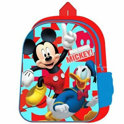 Disney Mickey Mouse Rucksack Backpack Back To School Bag NEW • 5.45£