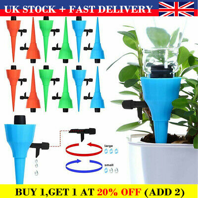 Self Watering Spikes Automatic Plant Stakes Valve Drip Irrigation Device LC • 5.79£