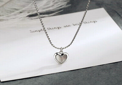 £3.49 • Buy Heart Moonstone Pendant 925 Sterling Silver Chain Necklace Womens Jewellery Gift