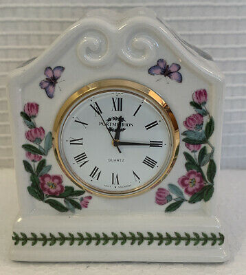 "Portmeirion Botanic Garden Desk Clock, Florals 2.75"" Butterflies Small. • 13.13£"