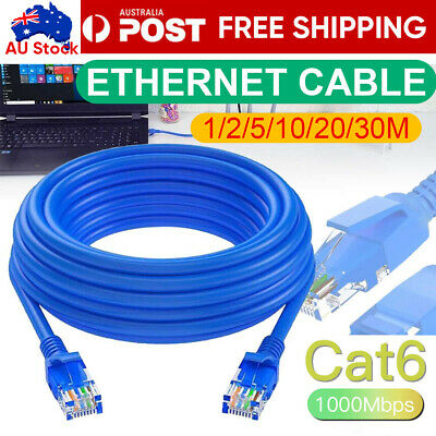 AU12.95 • Buy 1m 2m 3m 5m 10m 15m 20m 30m 50m 100m Ethernet Network Lan Cable CAT6 1000Mbps
