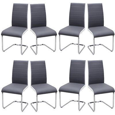 £152.95 • Buy Set Of 2 4 6 8 Z Shaped Chrome Dining Chairs Kitchen Chair Seating Home Office