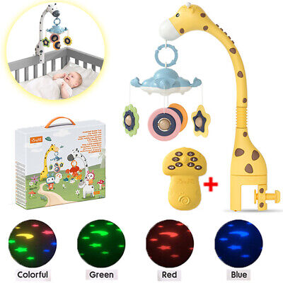 Baby Mobile Musical Crib Bed Bell Projector Music Night Light Teether Toy Gift • 22.78£