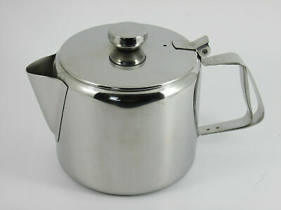 £9.99 • Buy Teapot Stainless Steel 20oz Teapot Coffee Pot With Lid Catering Teapot