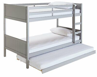 £270 • Buy Argos Home Detachable Bunk Bed Frame With Trundle - Grey
