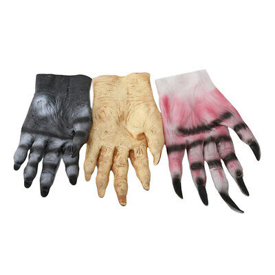 Big Bad Wolf Werewolf Claws Mitten Paws Pair Halloween Fancy Props For Adults JI • 6.20£