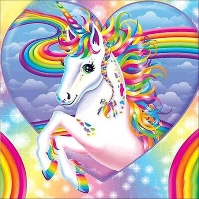 AU16.49 • Buy DIY 5D Diamond Painting Rhinestone Rainbow Unicorn Craft Art Home Decor
