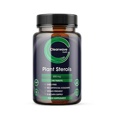 Plant Sterols 800mg - 200 Tablets Proven To Naturally Lower Bad Cholesterol L... • 19.99£