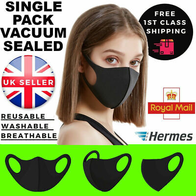 Everyday Face Mask Reusable Washable Breathable Dust Pollen Pollution Allergies • 1.50£