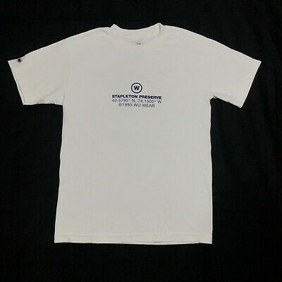 $ CDN24.26 • Buy Wu Wear Stapleton Preserve T-Shirt Top White Mens Size Small WuTang Clan