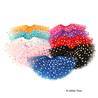 High Quality Tutu Skirt LADY WOMEN GIRLS KID Fancy Dress (Sparkling Polka Dot) • 3.99£