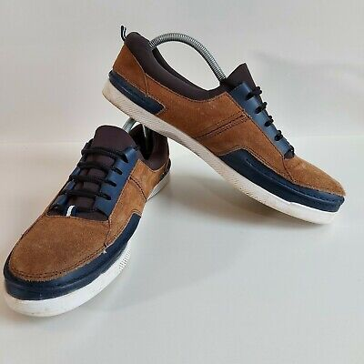 Yachtsman By Seafarer Men's Deck Shoes UK 12 Brown Leather Lace-up Boat Shoe • 17£