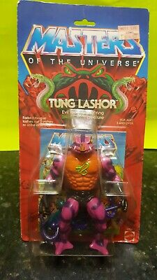 $190 • Buy Vintage Motu Tung Lashor On Card 1985 Complete Unopened Masters Of The Universe