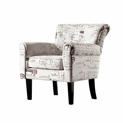 AU257.95 • Buy Levede Luxury Upholstered Armchair Dining Chair Single Accent Padded Fabric Sofa