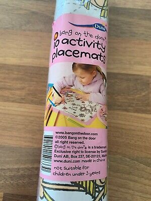 Brand New Pack Of 10 Paper Activity Place Mats Fairy Bang On The Door For Girls • 2£