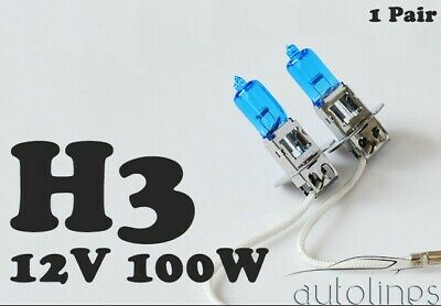 AU17.09 • Buy H3 12V 100W Xenon White 6000K Light Fog Car Headlight Lamp Globes Bulbs LED HID