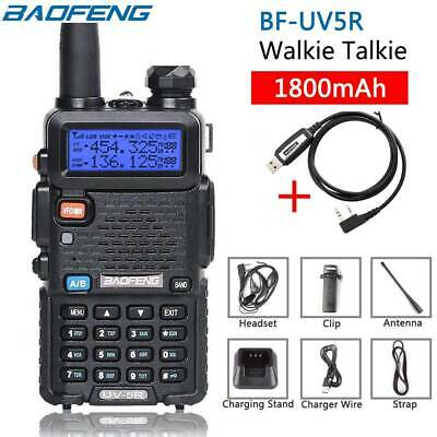 Baofeng UV5R VHF/UHF Dual Band Two Way Ham Radio Walkie Talkie+Programming Cable • 19.99£